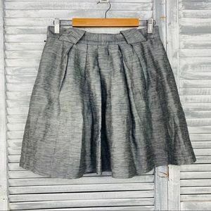 Cue fit and flare skirt metallic silver